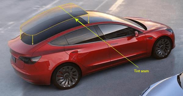 Tesla Model 3 full back 2 piece splice